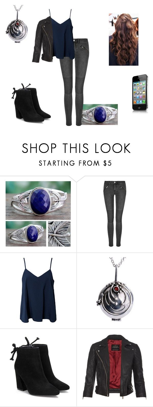 """""""Emiliya Pierce #2"""" by remi-m-gilbert ❤ liked on Polyvore featuring NOVICA, BLK DNM, NLY Trend and AllSaints"""