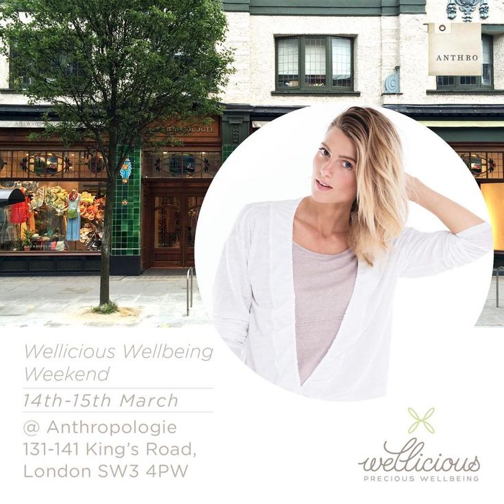 COME and join us on the 14th-15th March for a Wellicious wellbeing weekend to celebrate Anthropologie Europe's 5th birthday! We will be hosting yoga & active classes in the King's Road store all weekend - taught by our Ambassadors Nicole Heller , Sonia Doubell and Ami Dunne (Amrita Acharia).  plus you'll have the chance to shop our new SS15 collection instore!   For more information: http://ow.ly/JCSBT