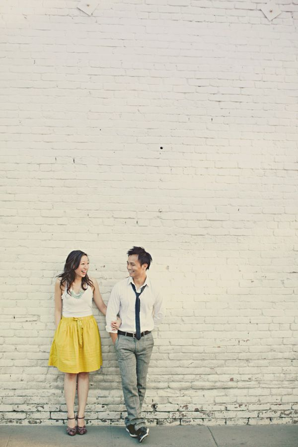 Engagement Session Inspiration | What to Wear > Love her yellow skirt!