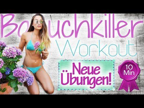 Bauchworkout für Zuhause ♥ Neue Übungen zum Mitmachen ♥ Effektiv den Bauch trainieren in 10 Min - YouTube