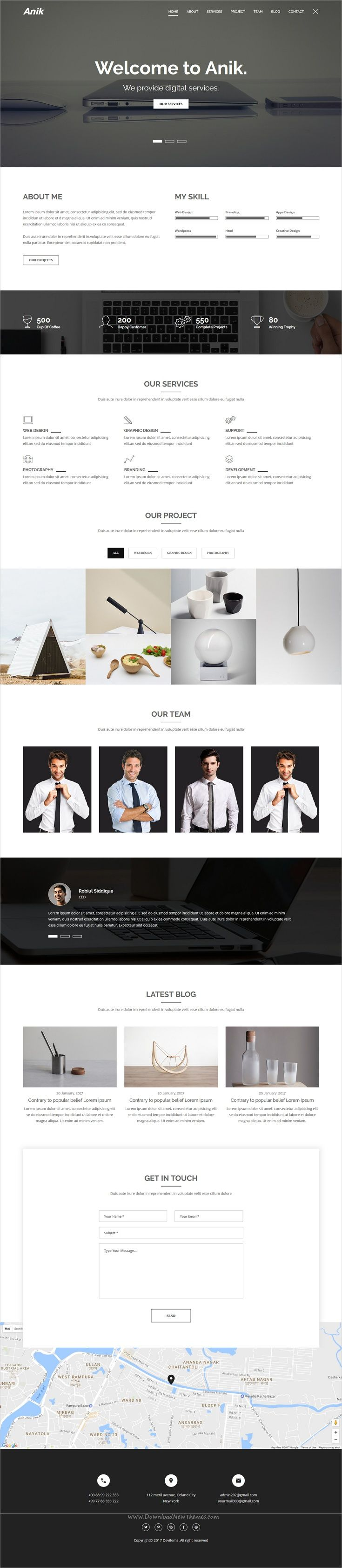 10 Best images about Free Bootstrap Themes Collection – Company Portfolio Template