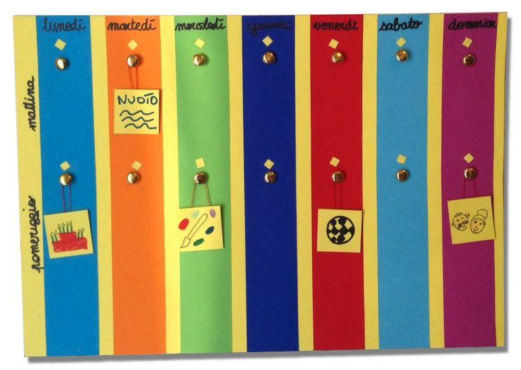 Ben noto Oltre 25 fantastiche idee su Calendario settimanale su Pinterest  OD27