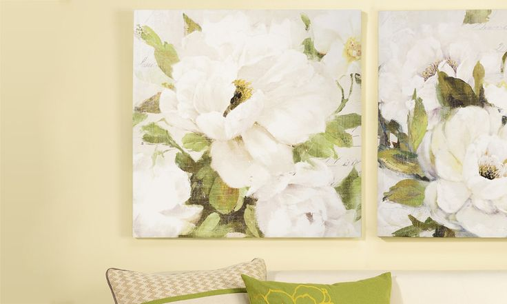 Floral Design Canvas Wall Print 23.5 x 23.5 (matching print)