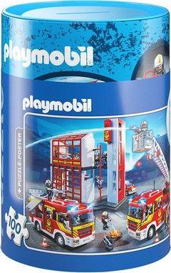 Puzzle Κουμπαράδες Playmobil-Πυροσβεστική (100 κομ.)
