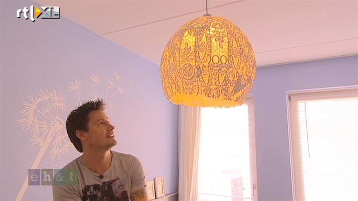 Maak zelf een kanten lamp! | Eigen Huis & Tuin