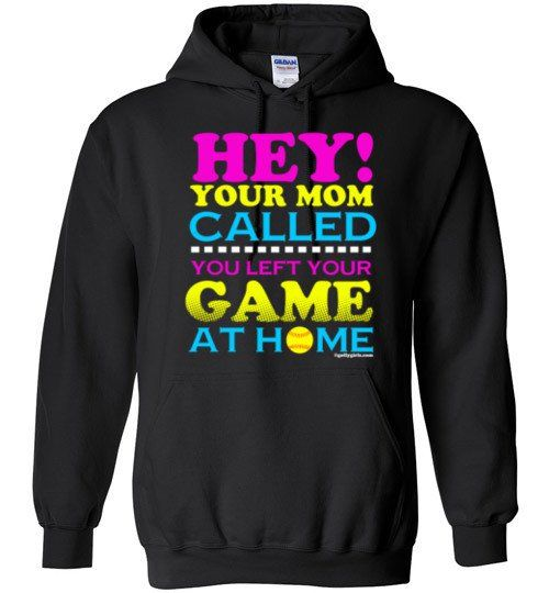 Golly Girls: Your Mom Called Softball Gildan Heavy Blend Hoodie only at gollygirls.com