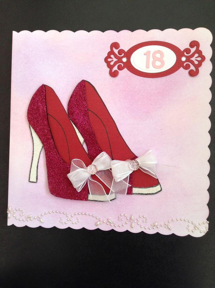 Another 'Stamps by Chloe' stamp used for my daughter's 18th Birthday card