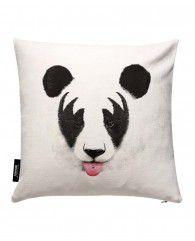 Kiss Of A Panda-JUNIQE Pillows