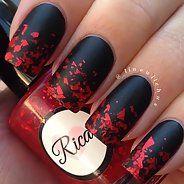 Искусный красно-черный маникюр - Дизайн ногтей (25 фото)