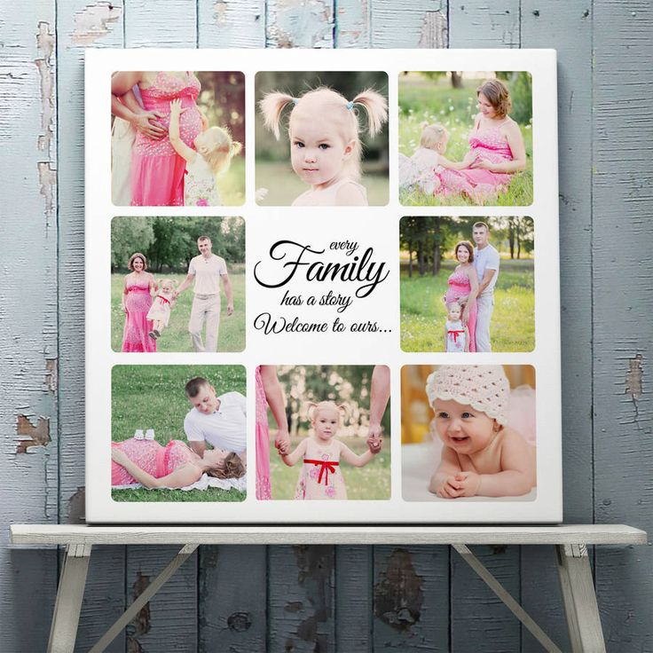 Don't miss out on such a cute idea for a family picture collage. iCanvasFactory.com