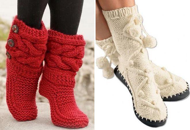 вязаные носки11