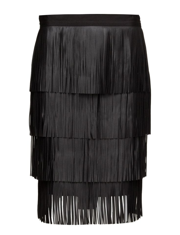 DAY - Day Chaabi Embrace this season's black '70s-inspired Shaabi skirt. The skirt has fringed trims that sway with each step creating a feminine and very elegant look. Wear yours after-dark with heels and a glamming clutch.  Stretch fabric Cool Chic Modern