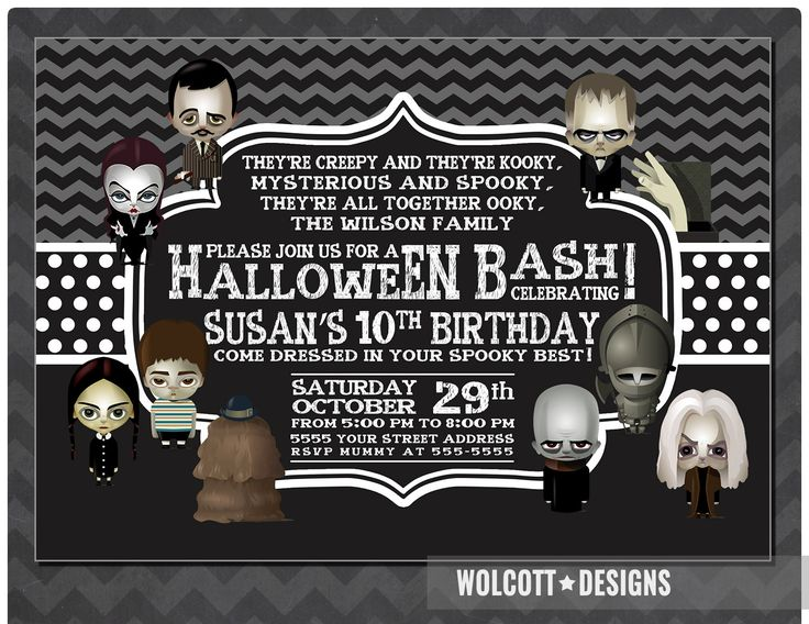 Best Halloween Party Images On Pinterest Halloween Birthday - Halloween birthday invitations etsy
