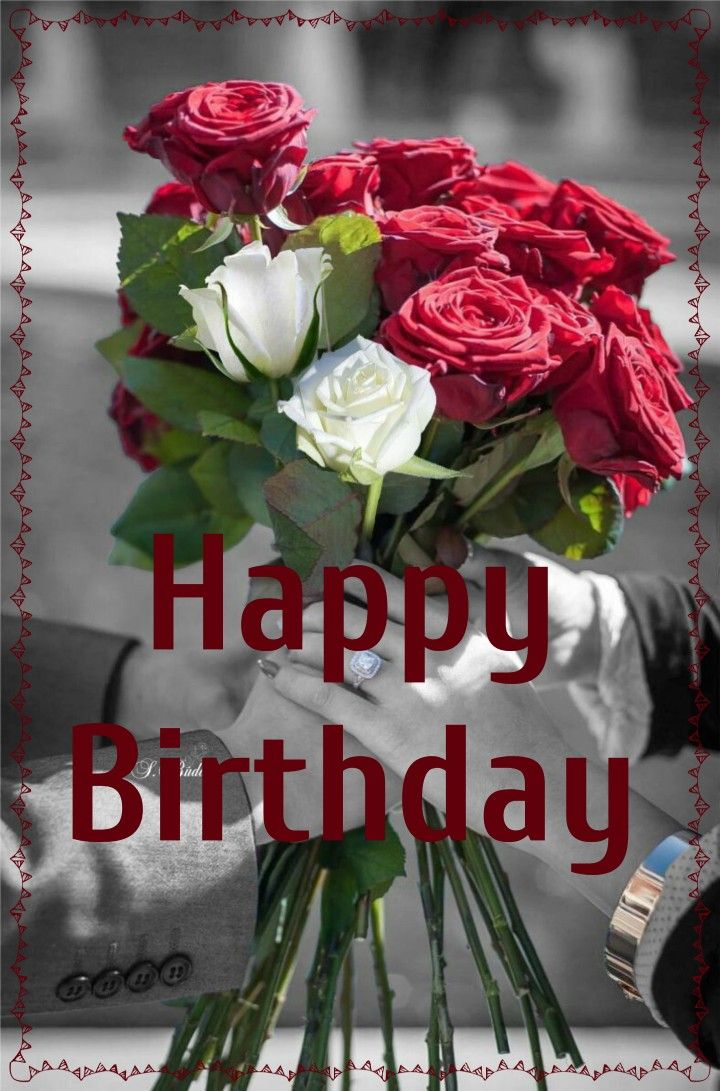 Happy Birthday Roses Card Happy Birthday Rose Color Splash