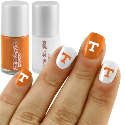 University of Tennessee nails. Hubby would love this on me!