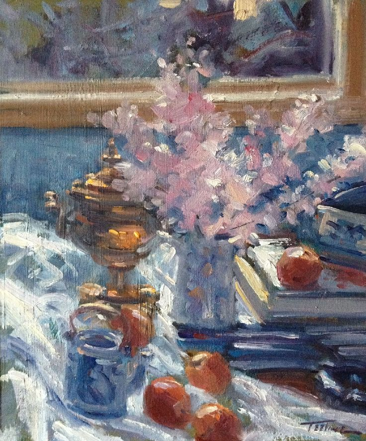 Still LIfe In Pink And Blue by Norman Teeling on ArtClick.ie