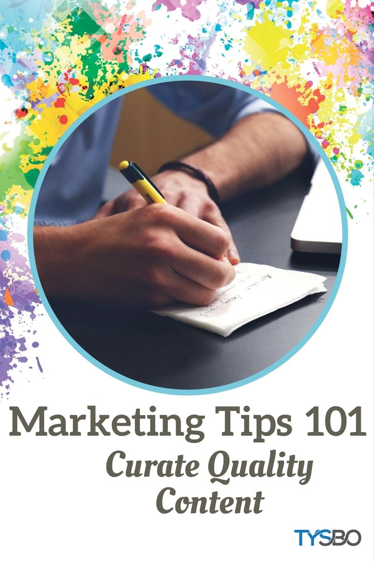 Quality content versus quantity. Curating quality content goes a long way. See some these great tips.