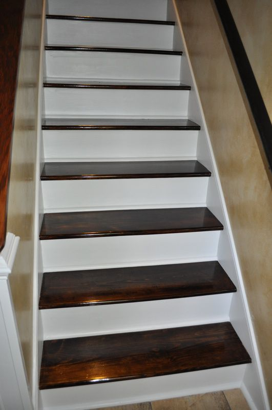 Basement Stairs Ideas: 24 Best Refinishing Stairs Images On Pinterest