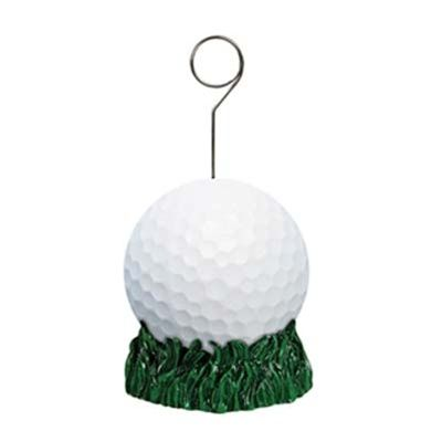 golf decor/balloon/picture holder