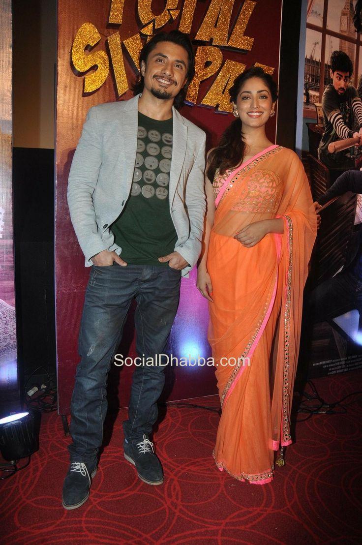 Yami Gautam, Ali Zafar at the First Look Launch of Film 'Total Siyappa'  #bollywood #photos #top #latest #movies