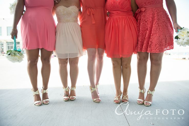 anyafoto.com, bridesmaids, bridesmaid dresses, pink bridesmaid dresses, cream bridesmaid dresses, salmon bridesmaid dresses, short bridesmaid dresses, lace bridesmaid dresses, chiffon bridesmaid dresses, pink wedding
