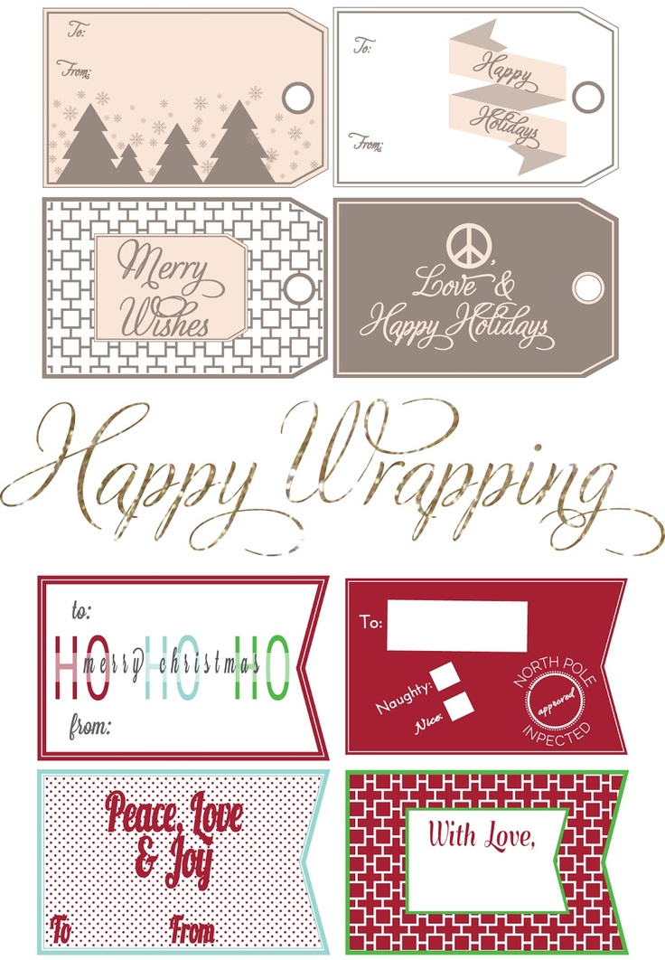 Free Christmas Gift Tags Printable
