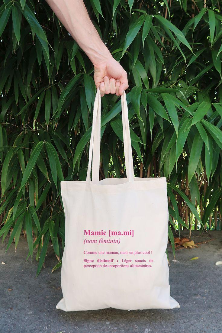 tote bag mamie définition en coton biologique. une super idée cadeau