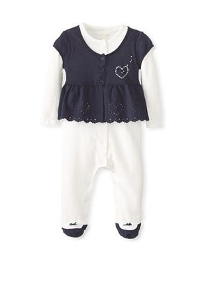 58% OFF Berlingot Baby Girl 2-Piece Set (Navy/Ecru)