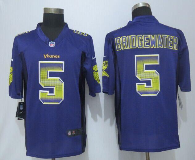 Minnesota Vikings 5 Bridgewater Pro Line Purple Fashion Strobe ...