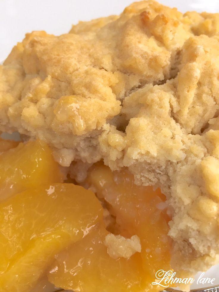 Simple Peach Cobbler Recipe - Lehman Lane