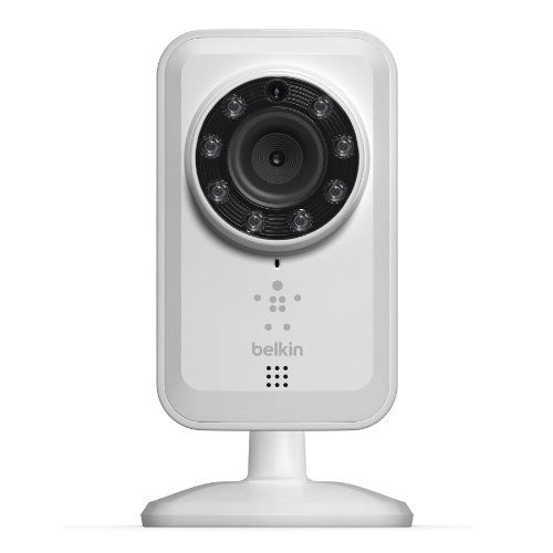 Belkin WiFi Netcam IP Camera with Night Vision, Motion Detection and Alerts for iOS and Android Devices - White