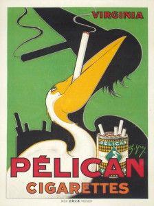 Pelican Cigarettes - VintagePosterso.com