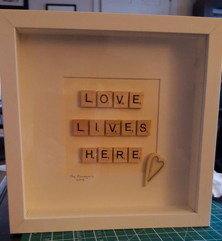 Scrabble art for new home