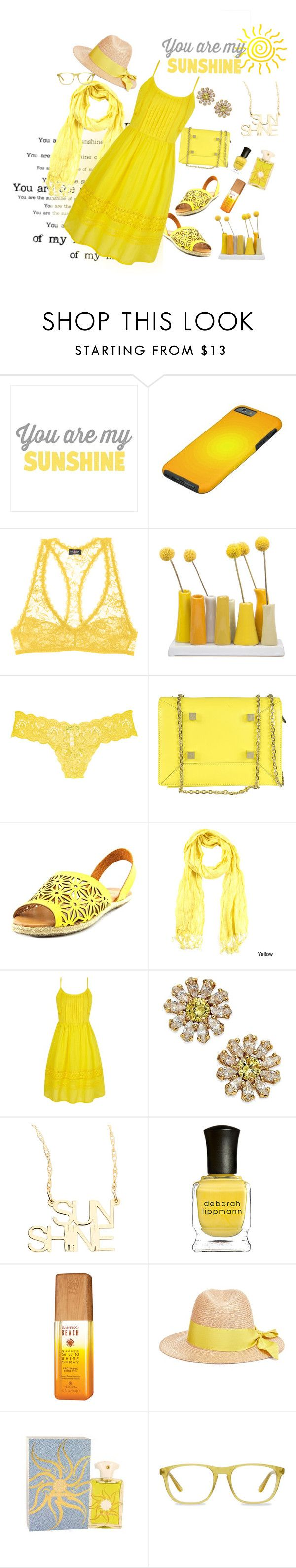 """""""You are my Sunshine"""" by christy-leigh-1 ❤ liked on Polyvore featuring Cosabella, Dot & Bo, Manurina, Cape Robbin, Le Nom, Yumi, Kate Spade, Jennifer Zeuner, Deborah Lippmann and Alterna"""