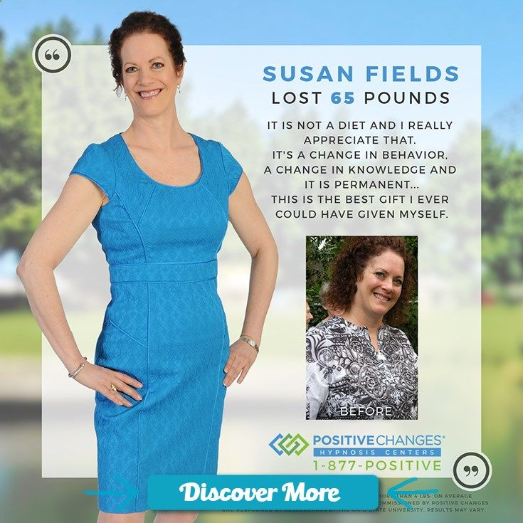 Check out this before and after weight loss comparison! Congratulations to Susan on her 65 pound weight loss with Positive Changes Hypnosis. #PositiveChanges #Hypnosis #WeightLoss #Transformation #fitnessbeforeandafterpictures, #weightlossbeforeandafterpictures, #beforeandafterweightlosspictures, #fitnessbeforeandafterpics, #weightlossbeforeandafterpics, #beforeandafterweightlosspics, #fitnessbeforeandafter, #weightlossbeforeandafter, #beforeandafterweightloss