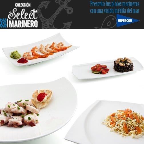 Tus platos marineros lucirán como nunca en la colección Select by Quid. A la venta en Hipercor