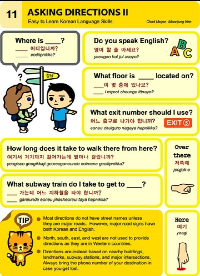 Learning Korean - Asking Directions II