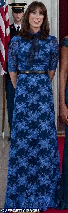 Samantha Cameron in Alessandra Rich