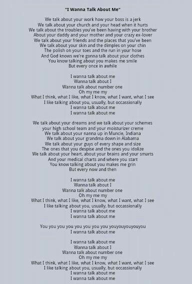 Toby Keith- 'I wanna talk about me'