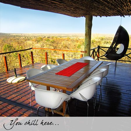 looking at the Waterberg mountains could not have been any easier with this stunning view from the Patio
