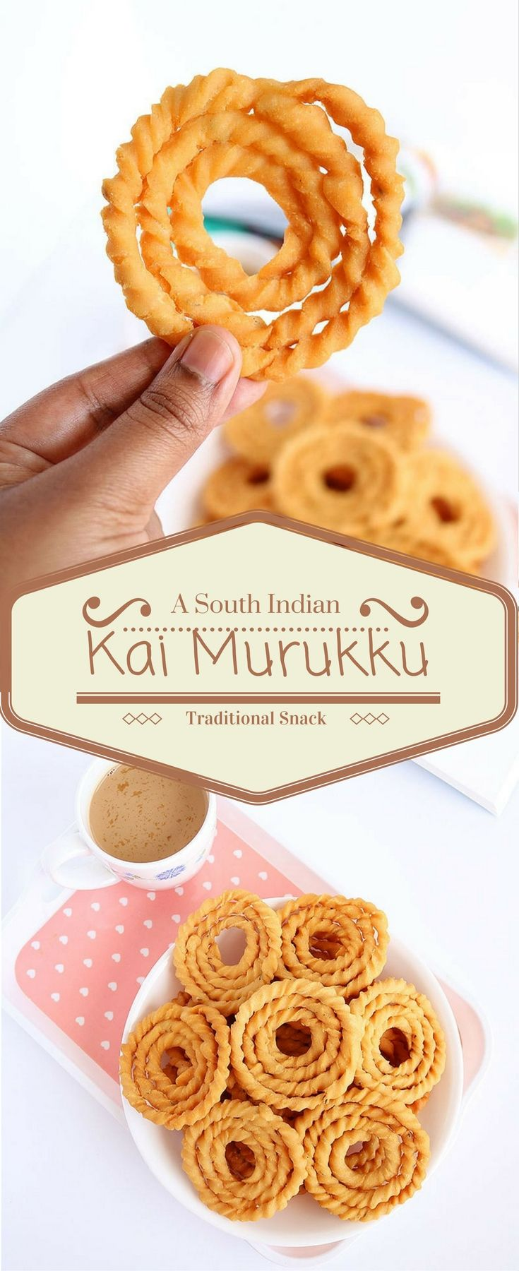 Kai Murukku is a classic South Indian snack recipe made primarily with rice and urad dal flour and painstakingly shaped by hand.