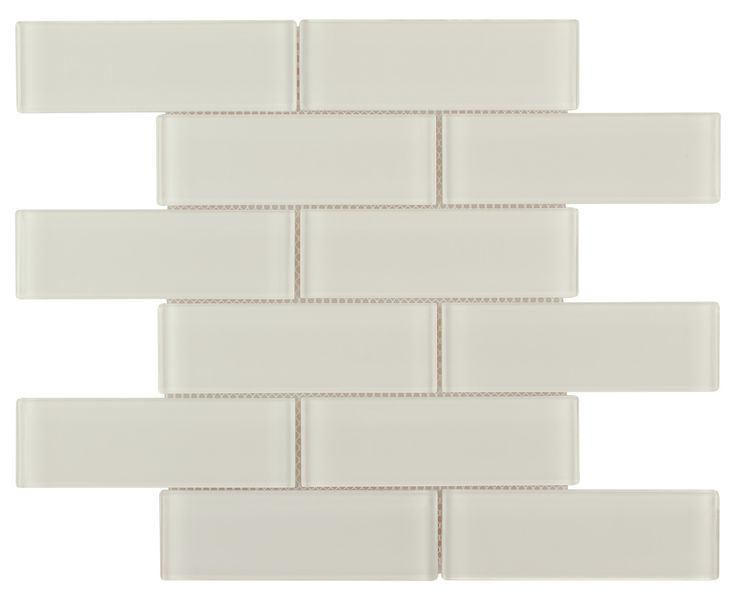 Glass Subway Tile Creamy 2×6