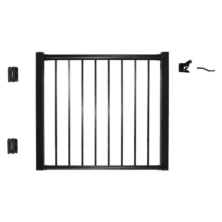 Shop Century  42-in x 48-in Aluminum Gate at Lowe's Canada. Find our selection of exterior stairs & railings at the lowest price guaranteed with price match + 10% off.
