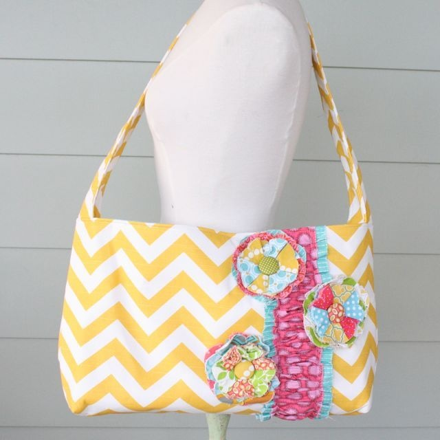 the pleated poppy   messenger bag   yellow chevron One of these days I want  this. 60 best the pleated poppy shop images on Pinterest
