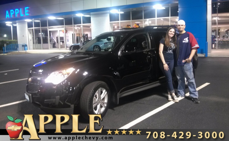 Congratulations to Kristen Neal on her purchase of a new 2012 Equinox from Dawn Soto (busy,busy) here at Apple. You're going to love this car Kristen! Thank you for your business!
