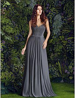 Vestido de Dama de Honor Corte Recto Escote Corazón - Hasta el Suelo Jersey
