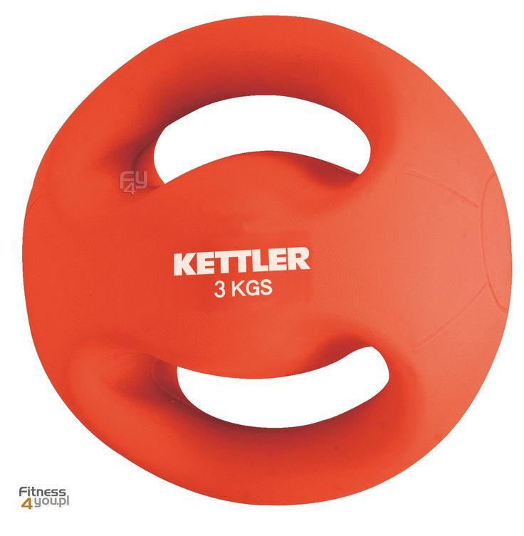 Piłka lekarska z uchytami Kettler Waga: 3 i 4 kg. Kolory: czerwony i czarny. https://www.fitness4you.pl/pilka-do-cwiczen-3-kg-z-uchwytami-kettler-07370-044,det,964.html