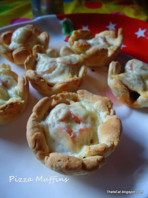 That's Eat!: ΠΙΤΣΑ ΜΑΦΙΝΣ - PIZZA MUFFINS
