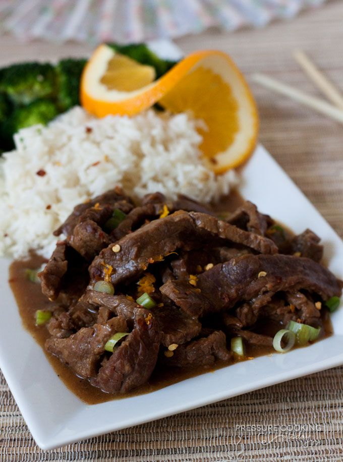 Easy to Make Pressure Cooker Spicy Orange Beef from Pressure Cooking Today
