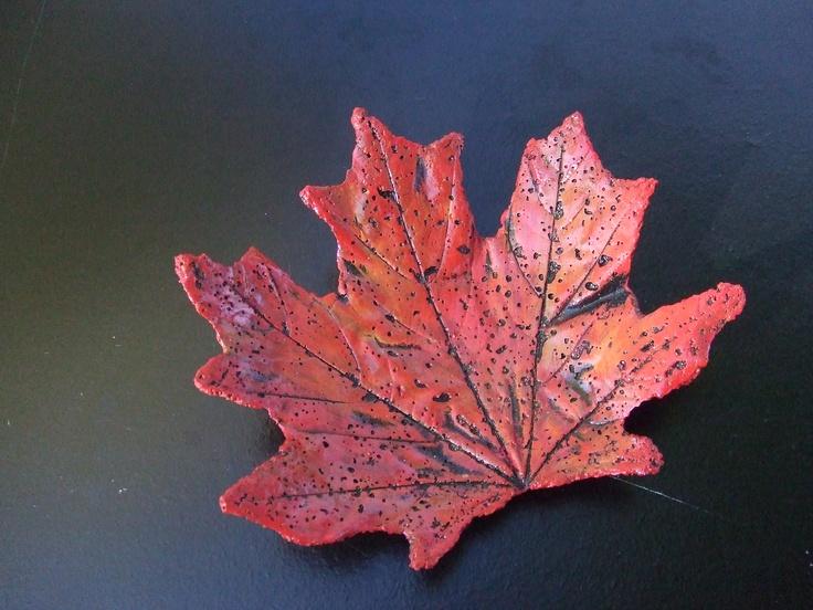 Maple leaf casting
